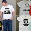Matching Daddy and Kid Star Wars Shirts- Perfect Father's Day Gift.