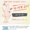 TOMS Surprise Sale Open NOW! Select Styles up to 75% Off!