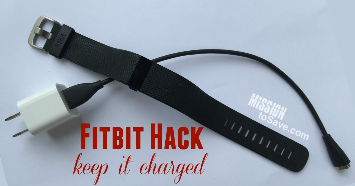 You look down and your Fitbit battery is dead. How are you going to know if you hit your Fitbit goal for the day? Check out this Fitbit Hack to help keep your Fitbit battery charged.