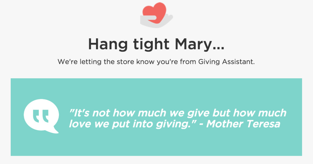 giving assistant gives back