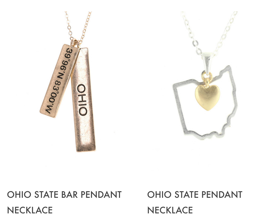 ohio is on trend new ohio state bar pendant necklace