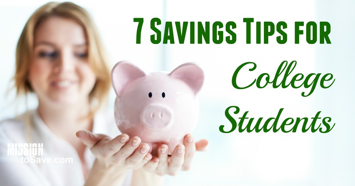 Check out these 7 savings tips for college students to get you saving in the right direction.