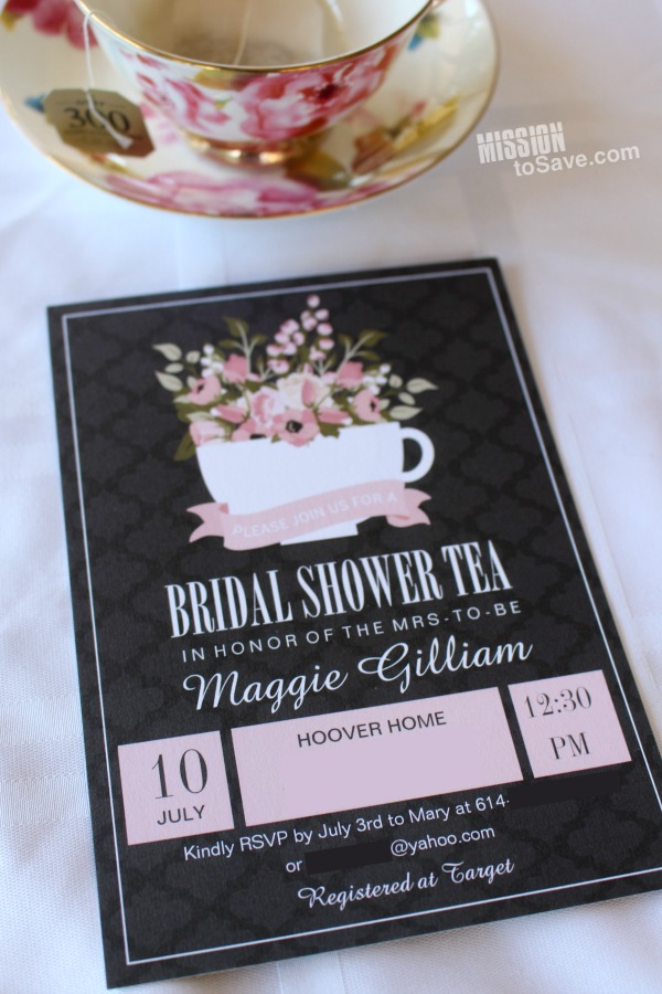make this custom bridal invitations for a bridal shower tea on zazzle