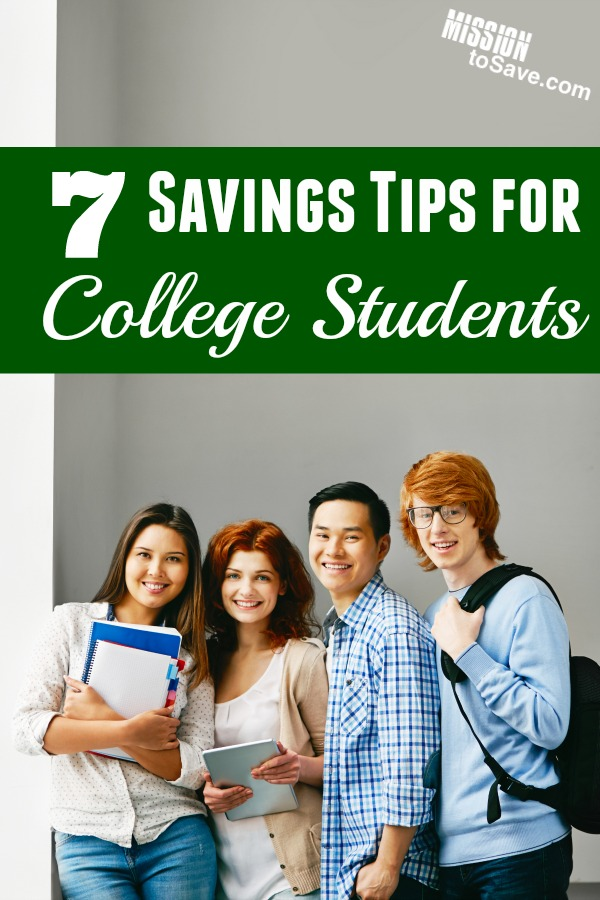 Check out these 7 savings tips for college students to get you saving in the right direction. With a little forethought and effort... your student loans will be the only debt waiting for you after graduation.