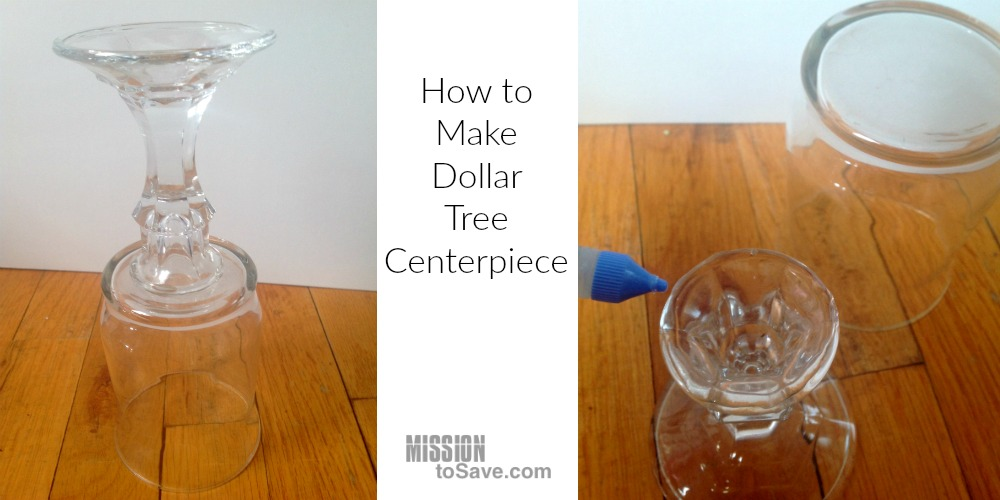 How to Make Dollar Tree Centerpiece. Use a glass votive, candlestick and some glue to make a versatile centerpiece.