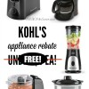 *HOT* Kohl's Small Appliance Rebate Offer – 7 Eligible Products FREE!!