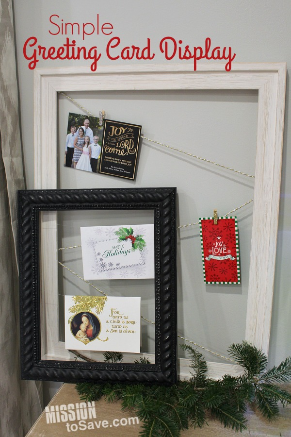 Simple Greeting Card Display