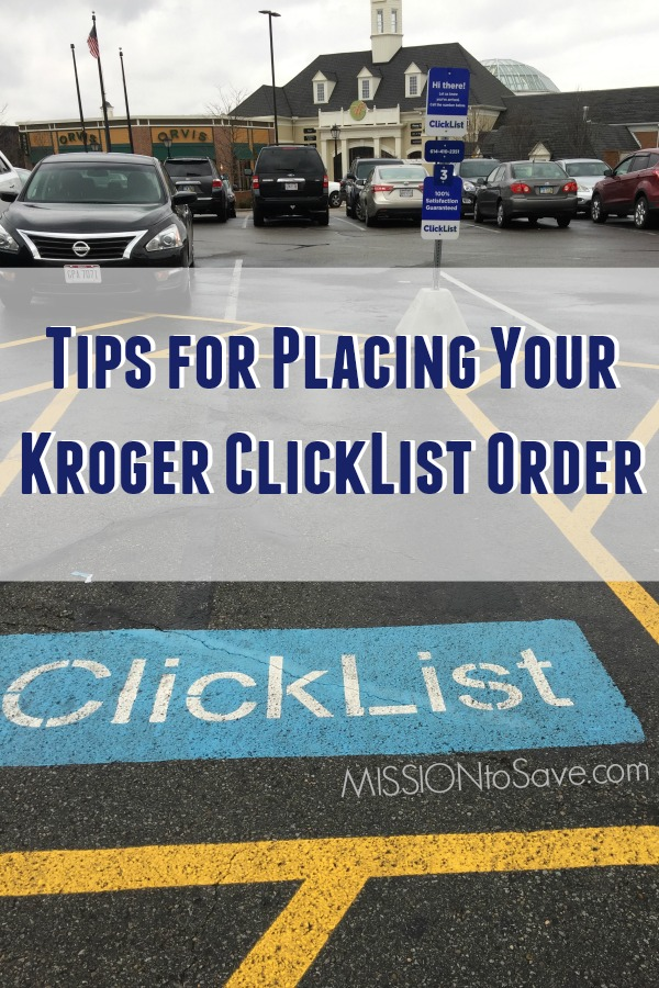 Kroger ClickList parking space