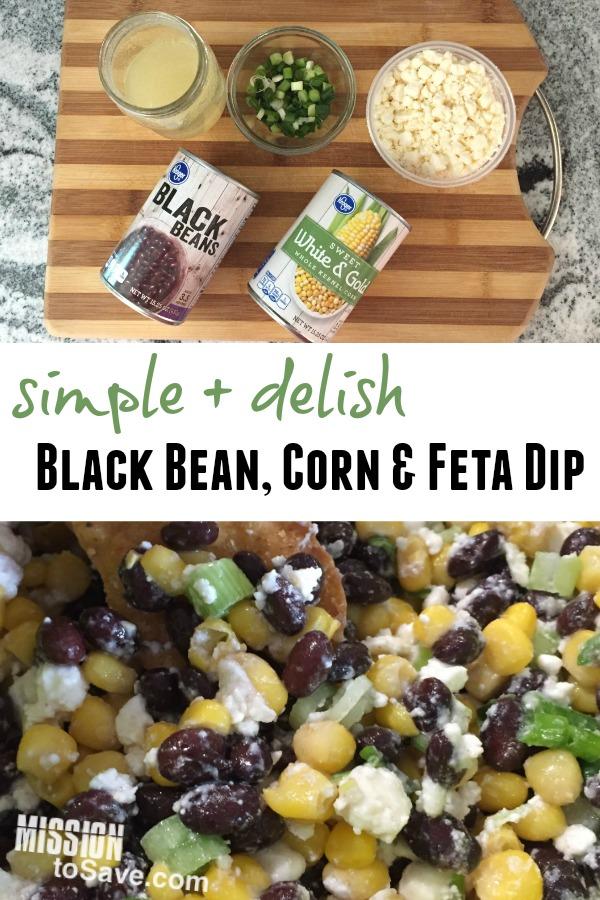 Simple Black Bean, Corn and Feta Dip Recipe - Mission: to Save