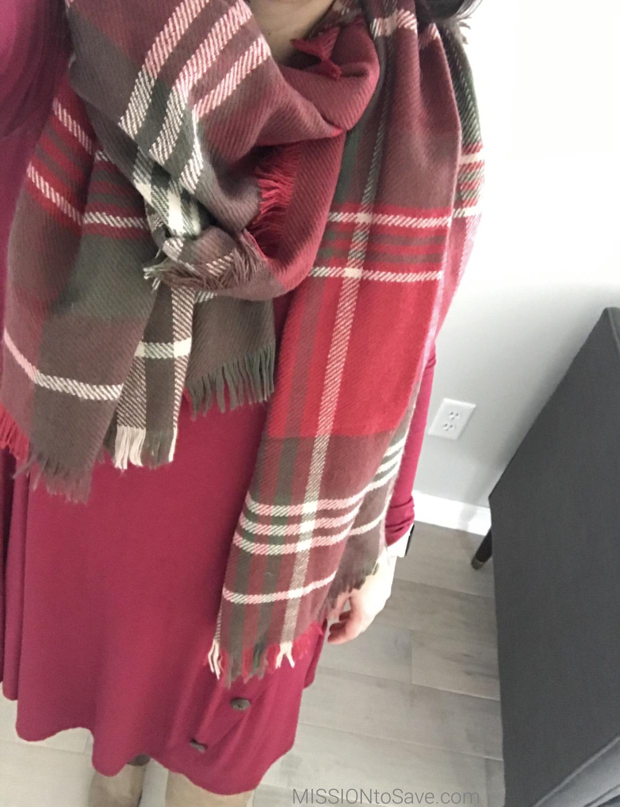 swing dress + blanket scarves = comfy fashion!