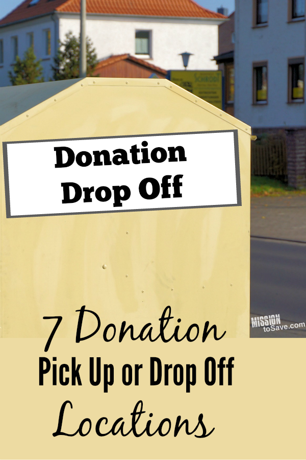 Donation Pick Up Or Drop Off Locations And Tips For