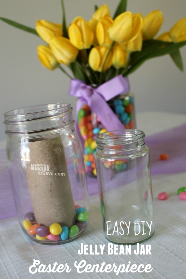 Jelly Bean Jar DIY Easter Centerpiece
