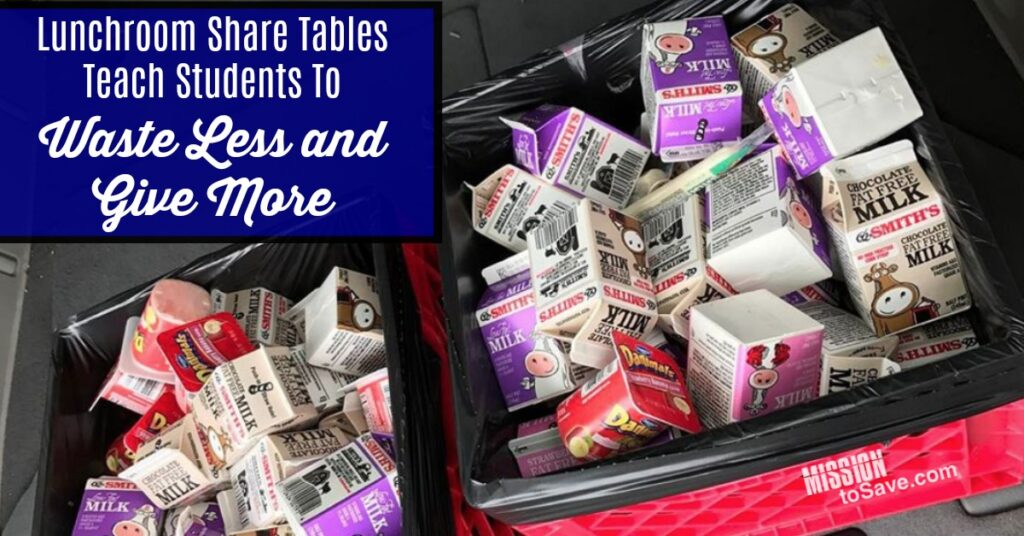Share Tables are a way to reduce the waste in lunchrooms- while meeting a need right in the school and broader community as well.